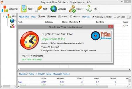 Easy Work Time Calculator ключ