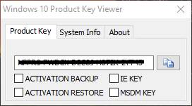 Windows 10 Product Key View